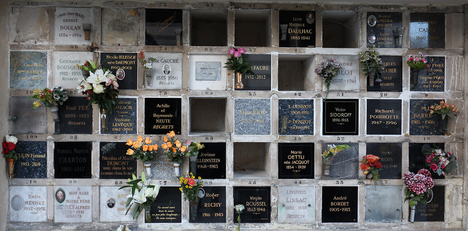 image of a Columbarium - cremation ashes cemetery