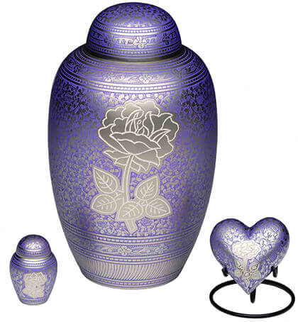 image showing well designed urns for human or pet ashes