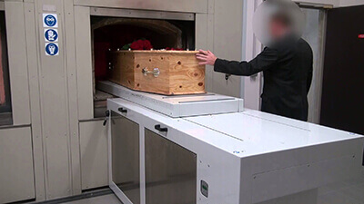 image of modern cremation process