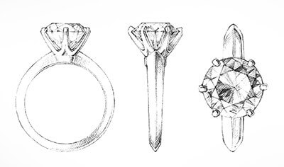 renowned tiffany classic six-prong setting which you can use in your cremation ring make or jewellery