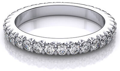 image of an all round pave ring setting with diamonds made from ashes