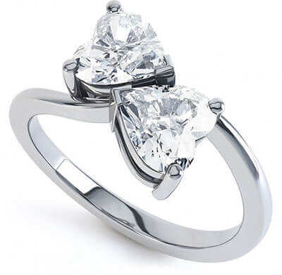 image showing a ring setting in heart form to have as keepsake for love memories