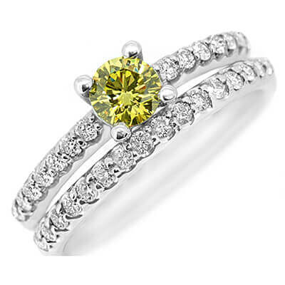 Image showing bright yellow diamond jewellery as an excellent fit for cremation purposes
