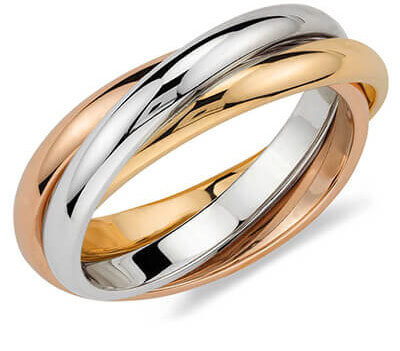 image showing a tri gold ring