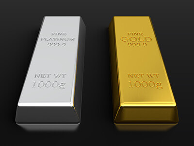 image showing platinum and gold