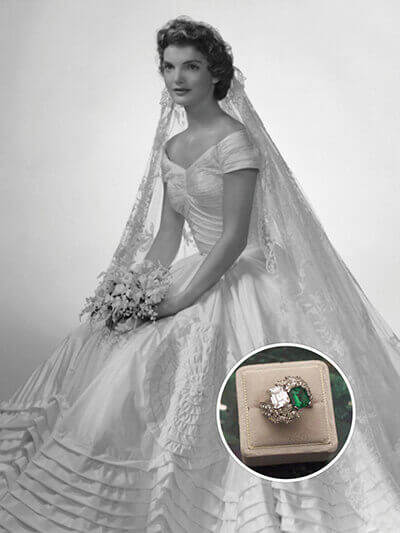 Jacqueline kennedy's engagement ring