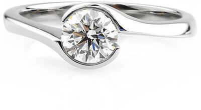 a typical diamond from loved one ashes put into a ring jewellery at it's center