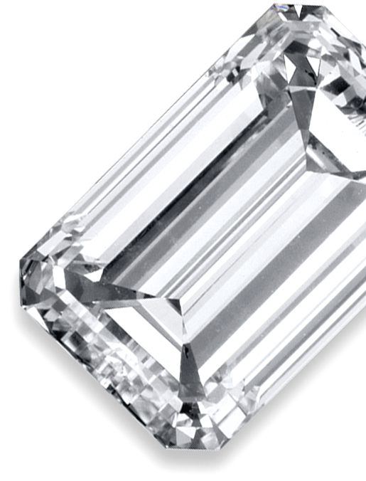 image of a colourless cremation diamond